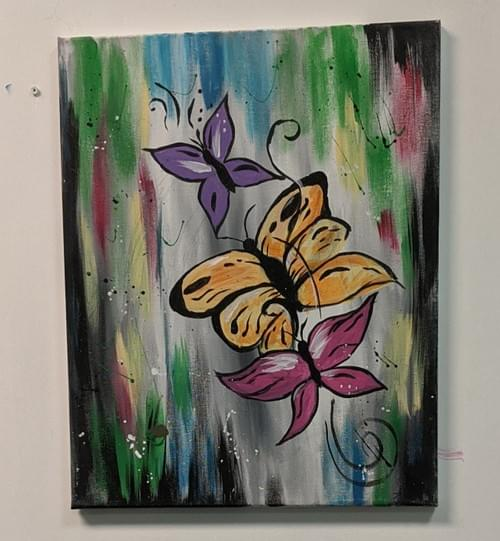 Butter Fly Painting Kit With Guided Video