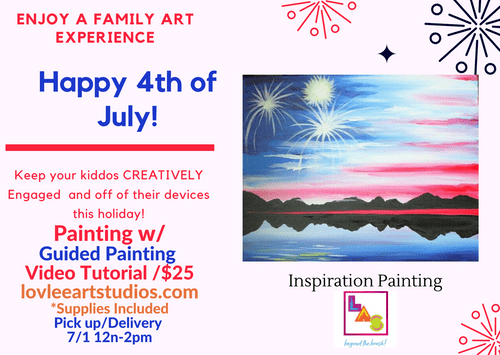 Fourth of July Guided Painting w/ Video Tutorial