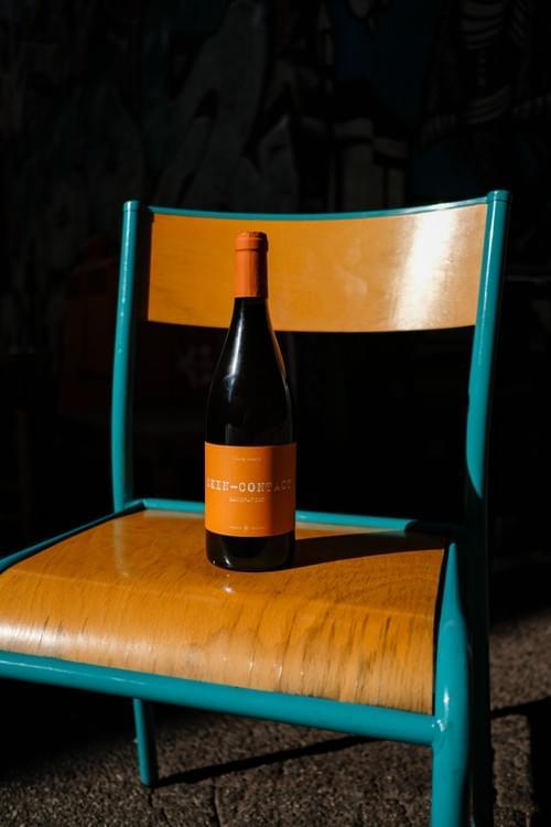 Bouteille de vin orange surprise!