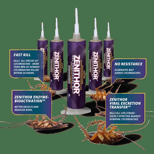 澳洲 Zenithor 蟑螂蟑螂凝膠餌 (可持久使用,無抗藥性)
