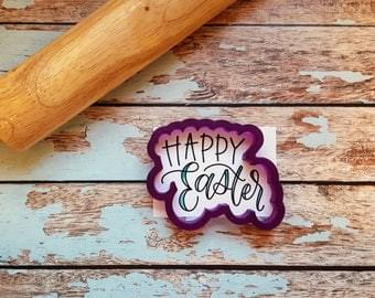 BOBBI'S COOKIE CUTTER  - HAPPY EASTER AND STENCIL
