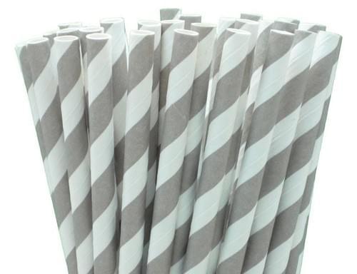 PAPER STRAWS - FRENCH GREY