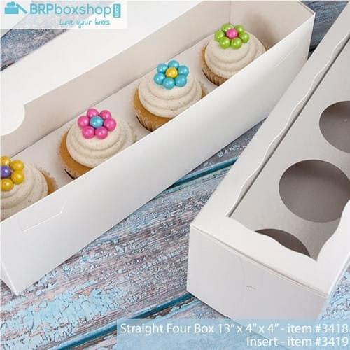 BRP Boxes - Cupcake w/ inserts 4 ct (bundle 6)