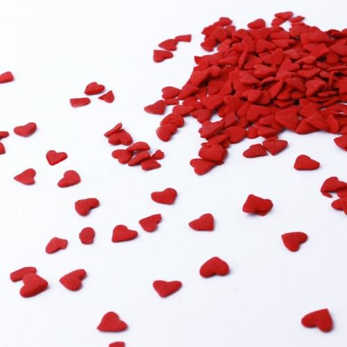 Large  Red Heart Confetti - Sprinkle Pop