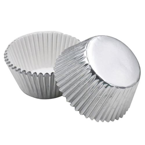 Cupcake Liners SILVER 50 CT