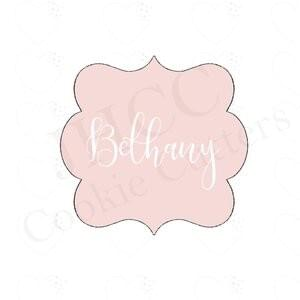 JH COOKIE CO - BETHANY PLAQUE