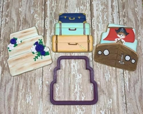 BOBBI'S COOKIE CUTTER  - STACKED SUITCASES