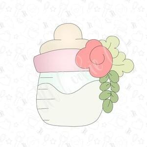 JH COOKIE CO - FLORAL BABY BOTTLE