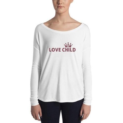 """Love Child"" Womens Long Sleeve Flowy Shirt"