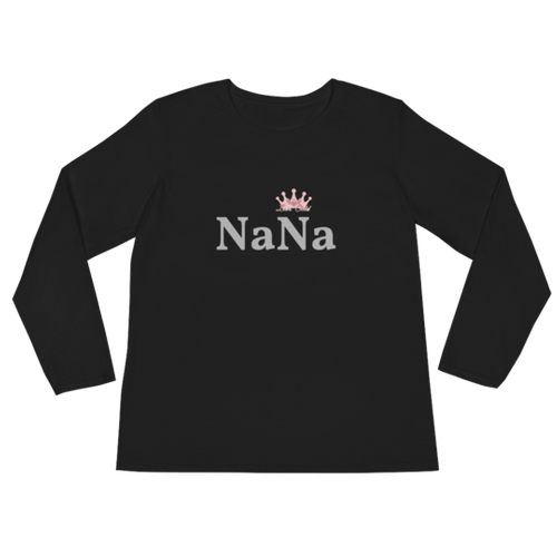 "Crowned Collection - ""Nana"" Womens Long Sleeve T-Shirt"