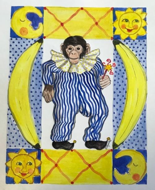 monkey, moon & stars