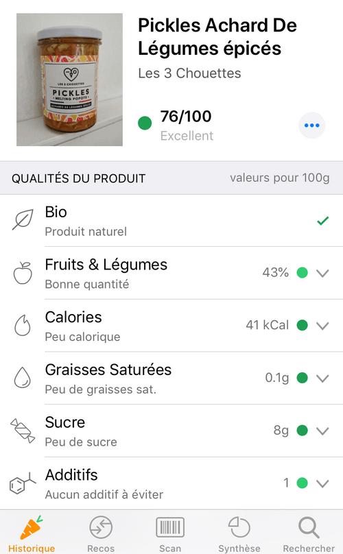 PICKLES MELTING POPOTE - Achards de légumes épicés (210g)