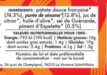 NOUVEAU ! MEZZÉ PATATA FIESTA - Patate douce Sésame Citron Piment d'Espelette (100 g)