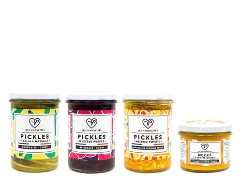 COFFRET SPÉCIAL SALADE - 3 pickles bio (3x210g) + 1 mezzé bio 100g