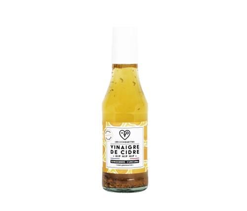 NOUVEAU! VINAIGRE HIP HIP HIP - Vinaigre de cidre gingembre curcuma (25cl)