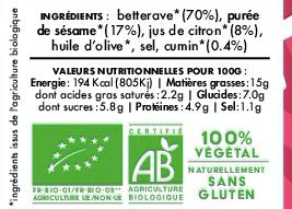 MEZZÉ BETTERAVE PARTY - Betterave Sésame Citron Cumin (100 g)