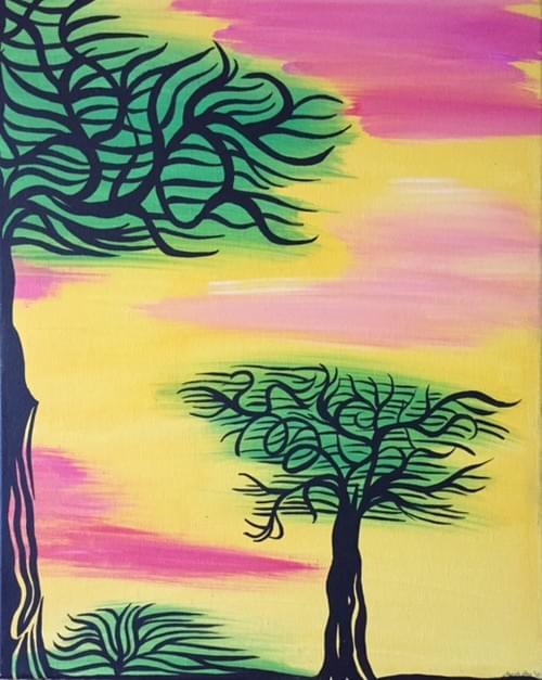 Yellow Sky Trees