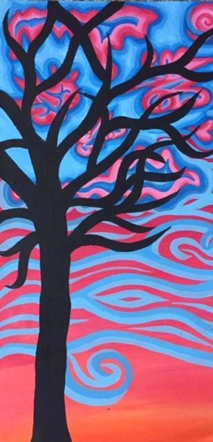 Solitude aka Tree at Sunset #2