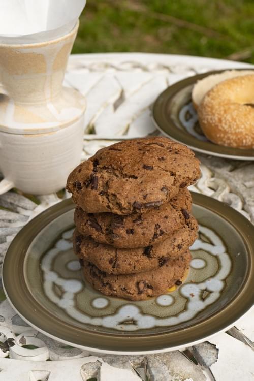 Vegan Whittaker's Dark Chocolate Chip Cookie