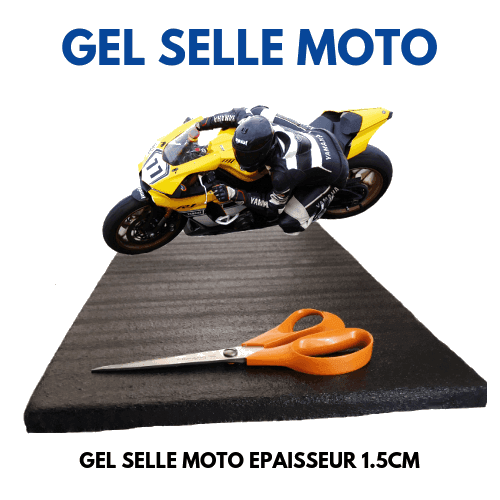 Zero Impact Coussin Gel Selle de Moto