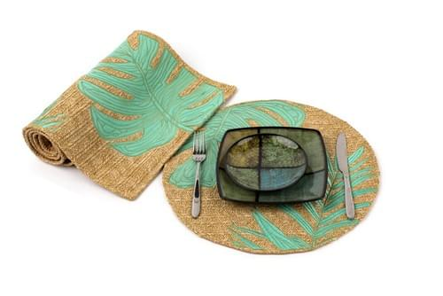 Free shipping Set of 4/6 embroidered Raffia Woven Placemats Handwoven feeling