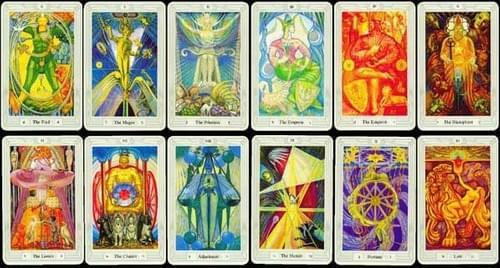 Interpretation of querent's own  Divination-of a Half Moon Tarot Layout.