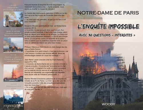 Notre Dame de Paris , l'enquête interdite  , format epub