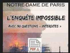 """"""" Notre Dame L'enquete impossible """"  Format PDF"""