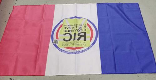 Drapeaux français avec Logo RIC