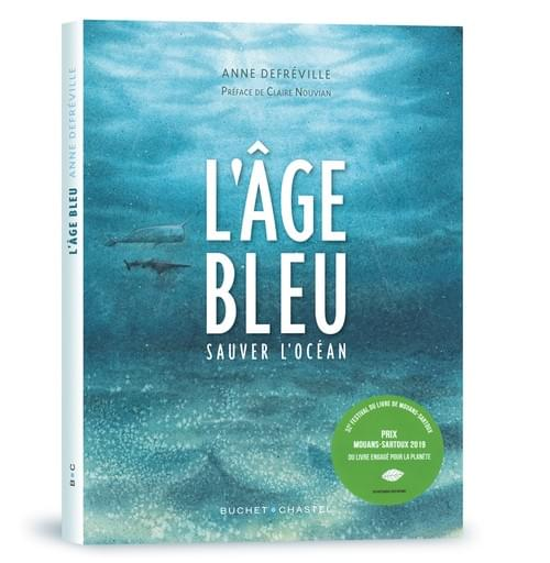 """Fond marin pollué,  4eme de couverture de """"L'âge bleu, sauver l'océan"""""""