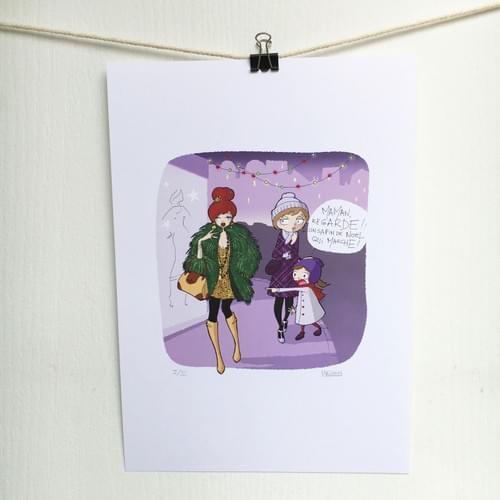 Sapin de Noël - Impression d'un dessin d'humour sur papier A4 200g