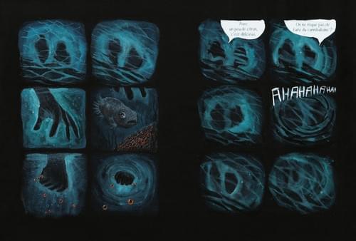 """Anthropophagie, pages 36-37 de """"l'âge bleu, sauver l'océan"""""""