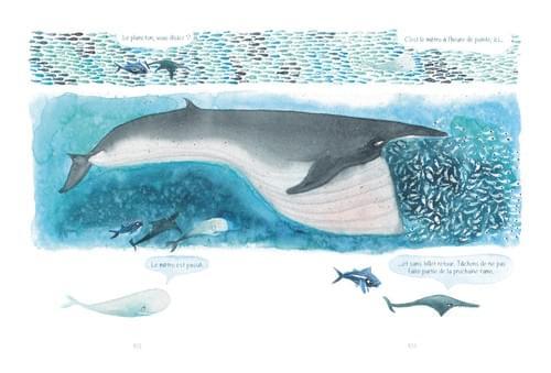 """Régulation de la population, pages 102-103 de """"L'âge bleu, sauver l'océan"""""""