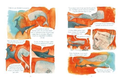 """Mer orange sangine, pages 70-71 de """"l'âge bleu, sauver l'océan"""""""