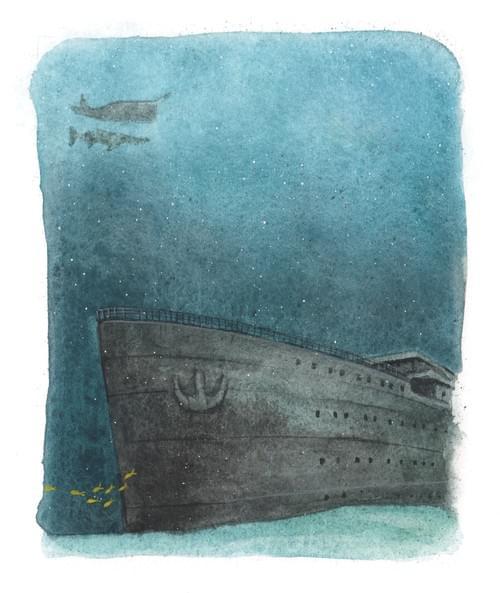 """Le Titanic, page 51 de """"l'âge bleu, sauver l'océan"""""""