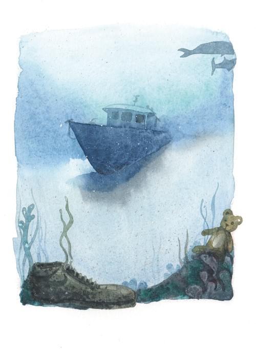 """Bateau de réfugiés, p.53 de """"L'âge bleu, sauver l'océan"""""""