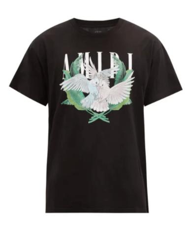 AMIRI Lovebirds logo-print cotton-jersey T-shirt