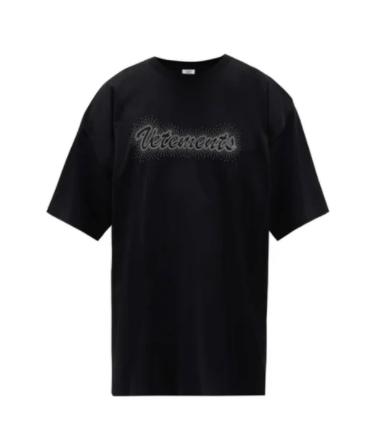 VETEMENTS BLACK T-SHIRT