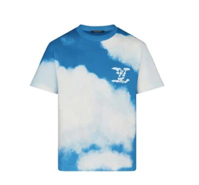 LV Tshirt Cloud Print