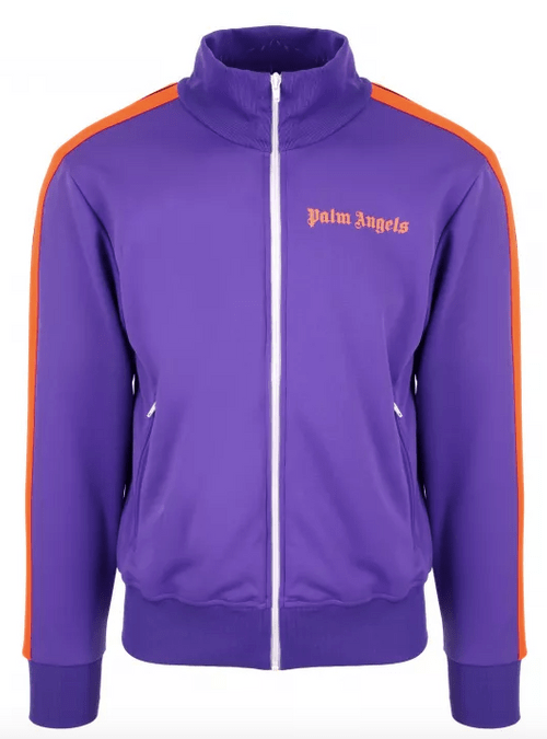 PALM ANGELS TRACKSUIT VEST PURPLE
