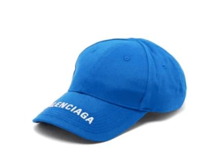 BALENCIAGA Logo-embroidered cotton-twill cap