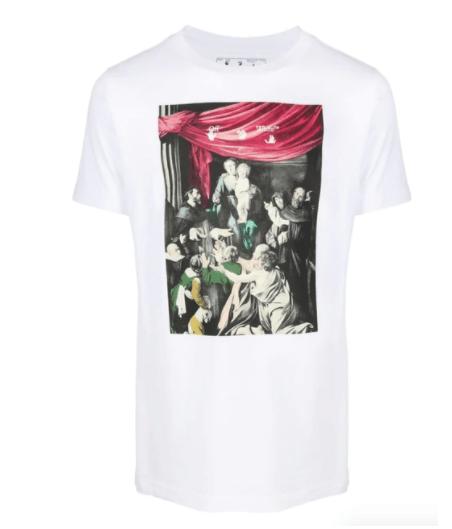 OFF-WHITE Caravaggio print T-shirt