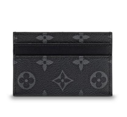 Louis Vuitton Black M62170 Monogram Double Card Holder Eclipse Wallet