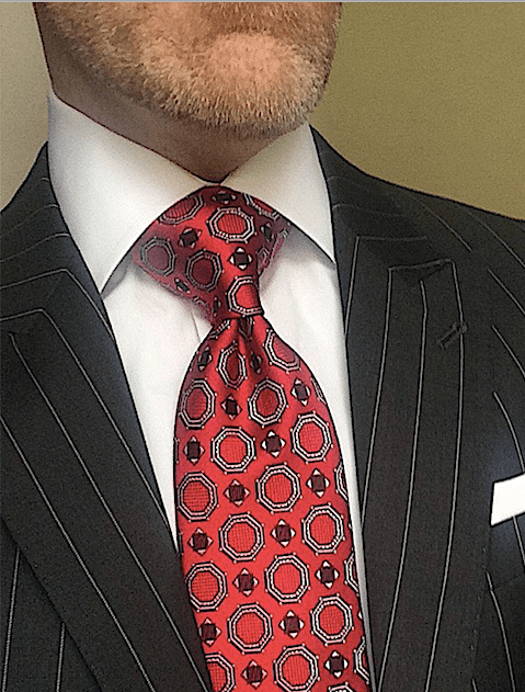 Red Satin Medallion Tie