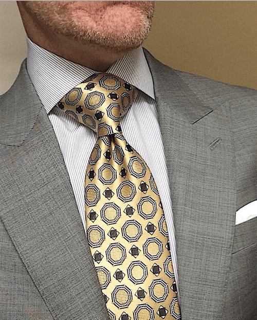 CLEARANCE: Gold Satin Medallion Tie