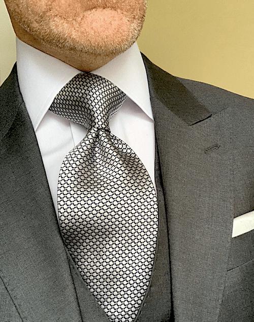 Silver Dragon Scales Tie
