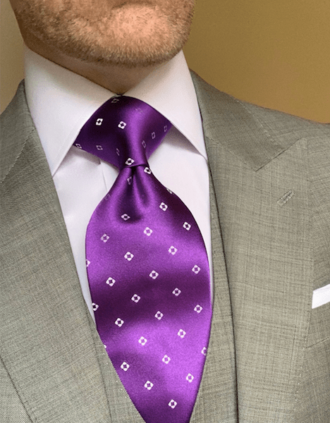 Purple Diamond Dots Tie