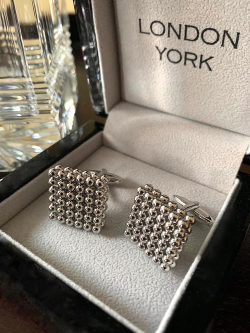 NEW - Steel Pearls Cufflinks