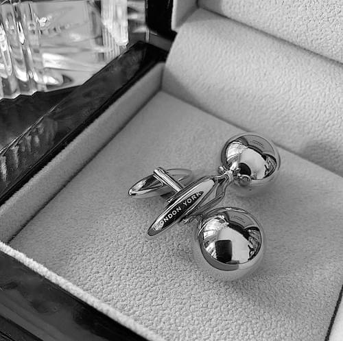 NEW - Stainless Steel Sphere Cufflinks