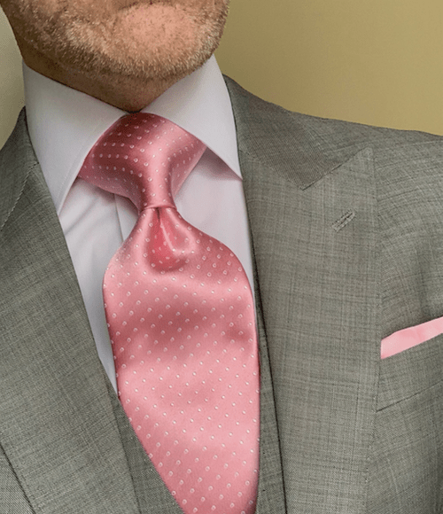 NEW - Spring Pink Micro-Dot Tie